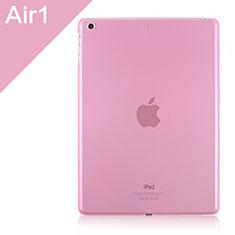 Hülle Ultra Dünn Schutzhülle Durchsichtig Transparent Matt für Apple iPad Air Rosa