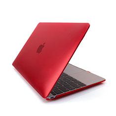 Hülle Ultra Dünn Schutzhülle Durchsichtig Transparent Matt für Apple MacBook 12 zoll Rot