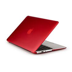 Hülle Ultra Dünn Schutzhülle Durchsichtig Transparent Matt für Apple MacBook Air 13 zoll Rot