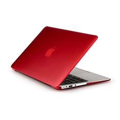 Hülle Ultra Dünn Schutzhülle Durchsichtig Transparent Matt für Apple MacBook Pro 15 zoll Rot