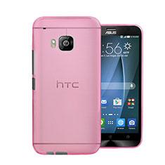 Hülle Ultra Dünn Schutzhülle Durchsichtig Transparent Matt für HTC One M9 Rosa