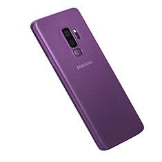 Hülle Ultra Dünn Schutzhülle Tasche Durchsichtig Transparent Matt für Samsung Galaxy S9 Plus Violett