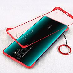 Hülle Ultra Dünn Schutzhülle Tasche Durchsichtig Transparent Matt für Xiaomi Redmi Note 8 Pro Rot