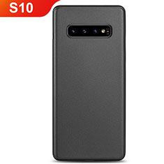 Hülle Ultra Dünn Schutzhülle Tasche Durchsichtig Transparent Matt P01 für Samsung Galaxy S10 Schwarz