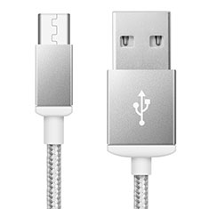 Kabel USB 2.0 Android Universal A02 für Huawei Mate 30 5G Silber