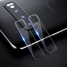 Kameraschutz Gehärtetes Glas Glasfolie Skins zum Aufkleben Panzerglas für Samsung Galaxy S10 Klar