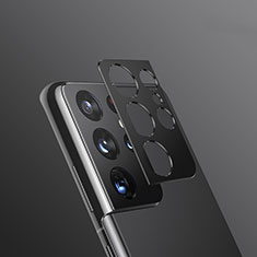Kameraschutz Gehärtetes Glas Glasfolie Skins zum Aufkleben Panzerglas für Samsung Galaxy S21 Ultra 5G Schwarz