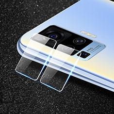Kameraschutz Gehärtetes Glas Glasfolie Skins zum Aufkleben Panzerglas für Vivo X50 Pro 5G Klar