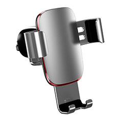 KFZ Halter Halterungung Lüftungs Auto Handy Halter Halterung Universal A04 für Sony Xperia XA3 Ultra Silber