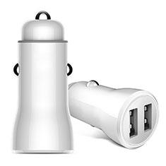 Kfz-Ladegerät Adapter 2.4A Dual USB Zweifach Stecker Fast Charge Universal für Nokia 3.1 Plus Weiß