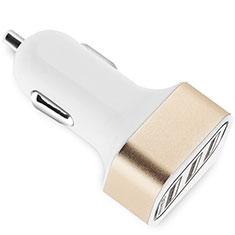 Kfz-Ladegerät Adapter 3.0A 3 USB Zweifach Stecker Fast Charge Universal U07 für Apple iPad Mini 5 2019 Gold