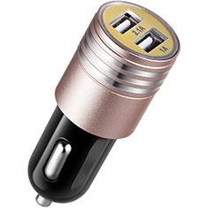 Kfz-Ladegerät Adapter 3.1A Dual USB Zweifach Stecker Fast Charge Universal U04 für Apple iPad Mini 5 2019 Rosa