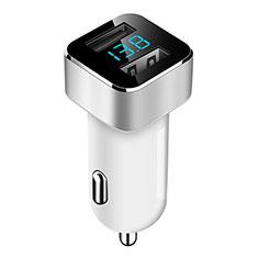 Kfz-Ladegerät Adapter 3.1A Dual USB Zweifach Stecker Fast Charge Universal für Huawei Mate 30 Weiß