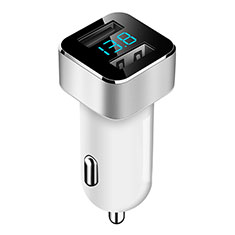 Kfz-Ladegerät Adapter 3.1A Dual USB Zweifach Stecker Fast Charge Universal für Sony Xperia XA3 Weiß