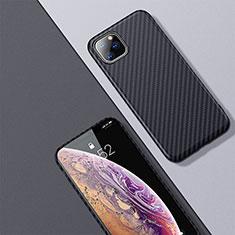 Kohlefaser Hülle Handyhülle Luxus Schutzhülle Tasche Köper für Apple iPhone 11 Pro Max Schwarz