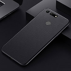 Kohlefaser Hülle Handyhülle Luxus Schutzhülle Tasche Köper T01 für Huawei Honor View 20 Schwarz