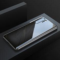 Kohlefaser Hülle Handyhülle Luxus Schutzhülle Tasche Köper T01 für Huawei P30 Pro Schwarz