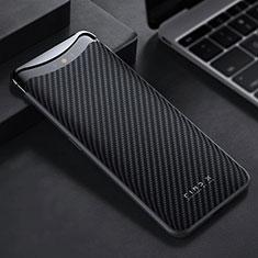 Kohlefaser Hülle Handyhülle Luxus Schutzhülle Tasche Köper T01 für Oppo Find X Schwarz