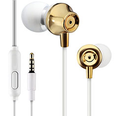 Kopfhörer Stereo Sport Ohrhörer In Ear Headset H21 für Apple iPad New Air 2019 10.5 Gold