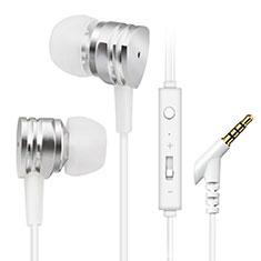 Kopfhörer Stereo Sport Ohrhörer In Ear Headset H24 für Huawei Y7a Silber
