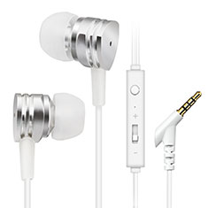 Kopfhörer Stereo Sport Ohrhörer In Ear Headset H24 für Apple iPhone 11 Silber