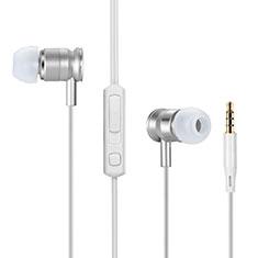 Kopfhörer Stereo Sport Ohrhörer In Ear Headset H31 für Apple iPhone 11 Silber