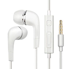 Kopfhörer Stereo Sport Ohrhörer In Ear Headset H33 für Huawei Honor WaterPlay 10.1 HDN-W09 Weiß