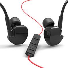 Kopfhörer Stereo Sport Ohrhörer In Ear Headset H36 für Huawei Matebook Hz W09 Schwarz