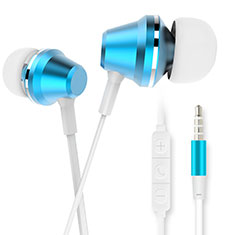 Kopfhörer Stereo Sport Ohrhörer In Ear Headset H37 für Apple iPad New Air 2019 10.5 Blau