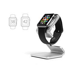 Ladegerät Dock Ladestation Ständer Halter Halterung C01 für Apple iWatch 4 44mm Silber