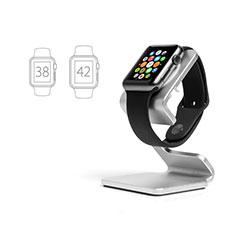 Ladegerät Dock Ladestation Ständer Halter Halterung C01 für Apple iWatch 5 44mm Silber