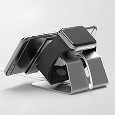 Ladegerät Dock Ladestation Ständer Halter Halterung C03 für Apple iWatch 4 44mm Schwarz