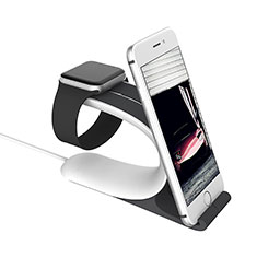 Ladegerät Dock Ladestation Ständer Halter Halterung C05 für Apple iWatch 5 40mm Silber