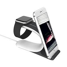 Ladegerät Dock Ladestation Ständer Halter Halterung C05 für Apple iWatch 5 44mm Silber