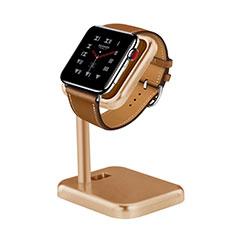 Ladegerät Dock Ladestation Ständer Halter Halterung für Apple iWatch 4 44mm Gold