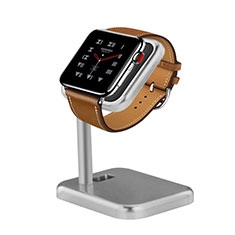 Ladegerät Dock Ladestation Ständer Halter Halterung für Apple iWatch 4 44mm Silber