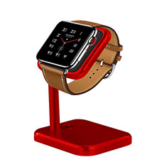 Ladegerät Dock Ladestation Ständer Halter Halterung für Apple iWatch 42mm Rot