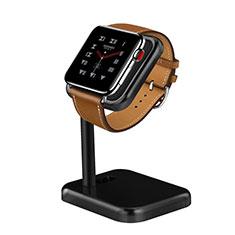 Ladegerät Dock Ladestation Ständer Halter Halterung für Apple iWatch 5 44mm Schwarz