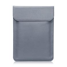 Leder Handy Tasche Sleeve Schutz Hülle L01 für Huawei Matebook 13 (2020) Grau