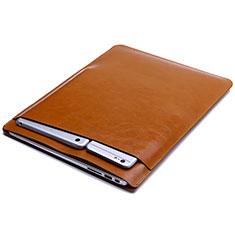Leder Handy Tasche Sleeve Schutz Hülle L01 für Huawei Matebook D14 (2020) Orange