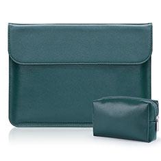 Leder Handy Tasche Sleeve Schutz Hülle L01 für Samsung Galaxy Book Flex 15.6 NP950QCG Grün