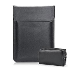 Leder Handy Tasche Sleeve Schutz Hülle L02 für Samsung Galaxy Book Flex 13.3 NP930QCG Schwarz