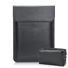 Leder Handy Tasche Sleeve Schutz Hülle L02 für Samsung Galaxy Book Flex 15.6 NP950QCG Schwarz