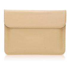 Leder Handy Tasche Sleeve Schutz Hülle L03 für Huawei Matebook X Pro (2020) 13.9 Gold