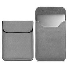 Leder Handy Tasche Sleeve Schutz Hülle L03 für Samsung Galaxy Book Flex 15.6 NP950QCG Grau