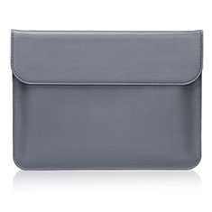 Leder Handy Tasche Sleeve Schutz Hülle L04 für Huawei Matebook D14 (2020) Grau