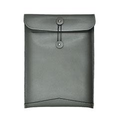 Leder Handy Tasche Sleeve Schutz Hülle L04 für Huawei Matebook X Pro (2020) 13.9 Grau