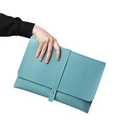 Leder Handy Tasche Sleeve Schutz Hülle L18 für Apple MacBook 12 zoll Hellblau