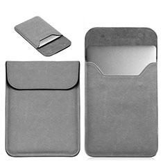 Leder Handy Tasche Sleeve Schutz Hülle L19 für Apple MacBook 12 zoll Grau