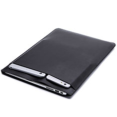 Leder Handy Tasche Sleeve Schutz Hülle L20 für Apple MacBook Pro 15 zoll Retina Schwarz